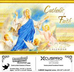 Catholic Faith Calendar with Funeral Preplanning insert option