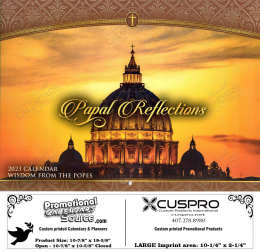 Papal Reflections Calendar Wisdom from the Popes Catholic Calendar with Funeral Preplanning insert option