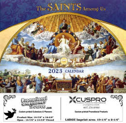 The Saints Among Us Catholic Calendar with Funeral Preplanning insert option