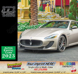 Exotic Cars Bilingual Calendar English/Spanish - 2019