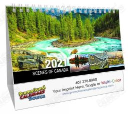 Scenes Of Canada Desk Tent Calendar English, 2018