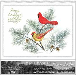 James Lockhart Wildlife 2020 Calendar, Spiral