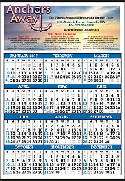 Year-In-View Calendar Printed with Full Color Ad Copy 22x34