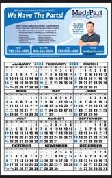 Custom Year In View Calendar 14.5x23 Full Color Imprint
