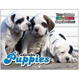 Puppies Promotional Mini Custom Calendar