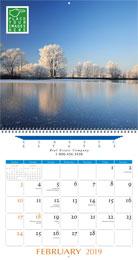 Large Custom Printed Wall Calendar, Size 13.5x25.5, Spiral Binding