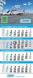 4-Month View Promo Calendar Tear Off Pad, Drop Ad, Week Numbers