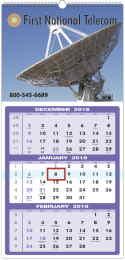Custom 3 Month Calendar 12 sheet construction size 13x27 Top Spiral