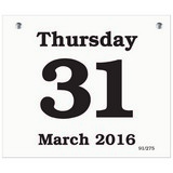 Daily Date Calendar Refill 67