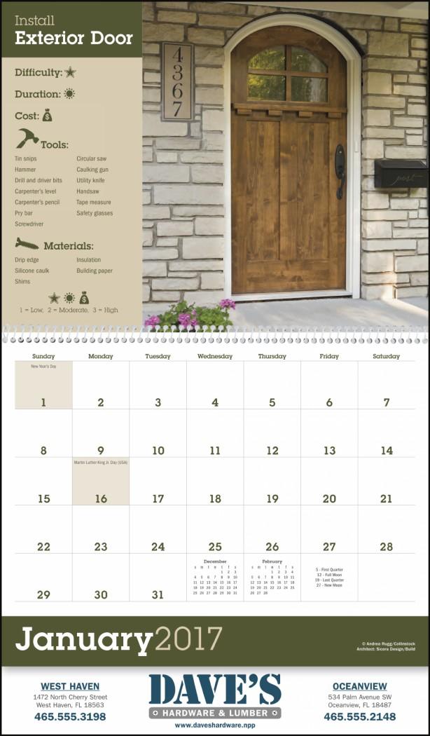 Home improvement tips promotional calendar 2018 - Home improvement ideas 2018 ...