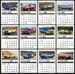 Full Color Adhesive Mini Stick Up Calendar montly images Automotive Grid item 5334