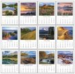 Full color Scenic pad adhesive stick-up mini calendar monthly images Item 5336