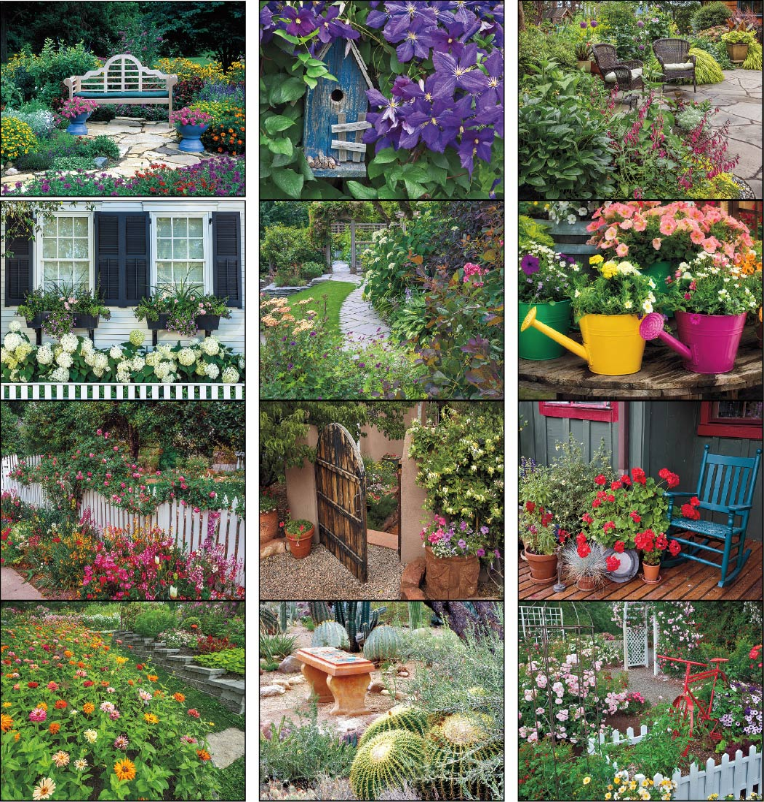 Garden walk promotional calendar 2018 stapled for Gardening 2018 calendar