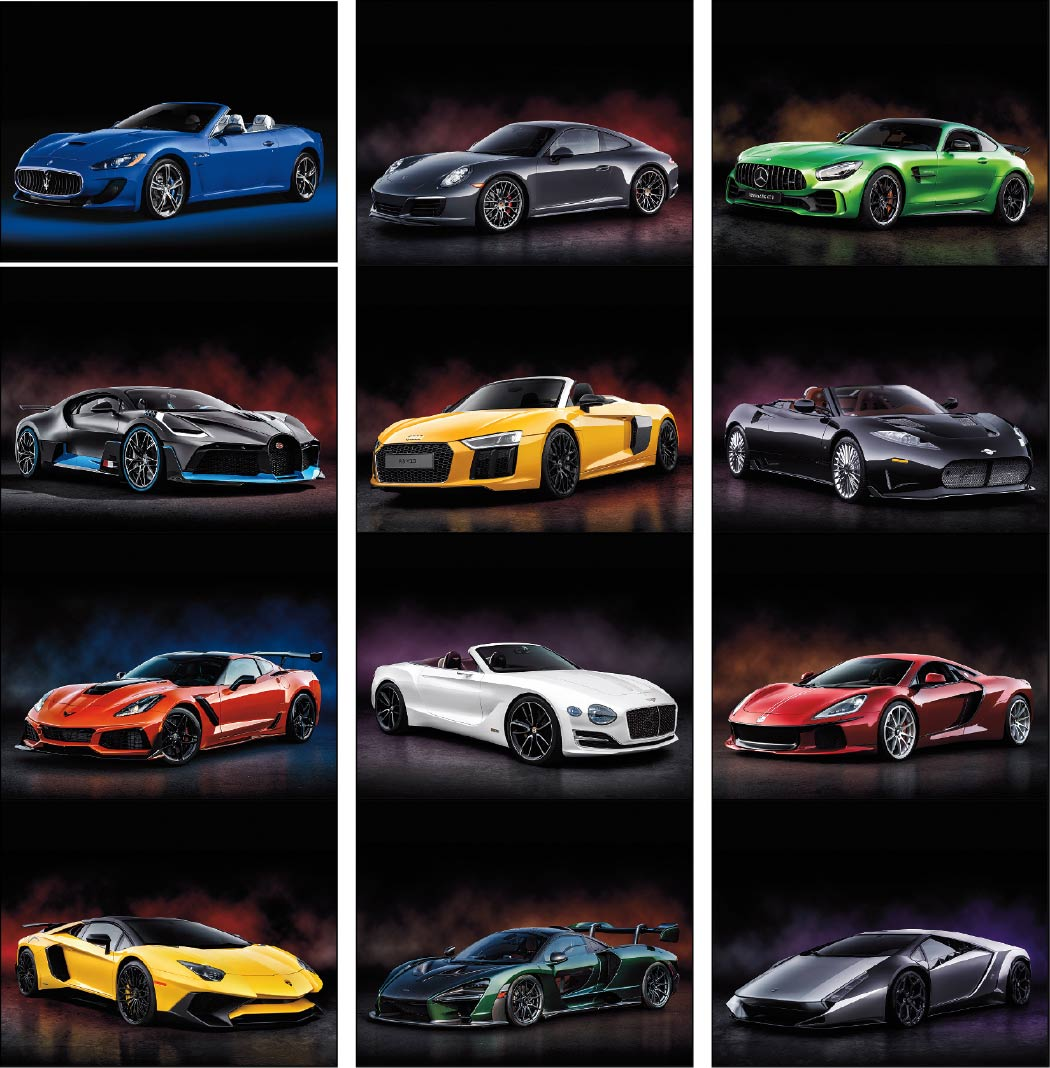 Exotic Sports Cars Promotional Calendar 2018 Stapled