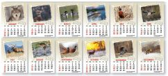 Adhesive calendar No. FC-1016WL Wildlife monthly images