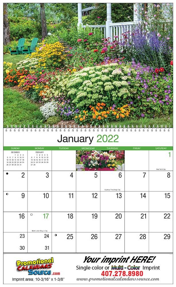 Secret Garden: Gardens Wall Calendar 2018