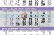 3 Month view custom commercial calendar UG-620 grid details