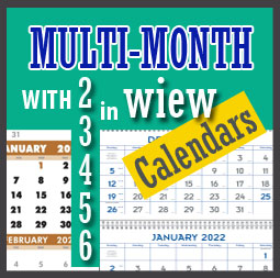 custom multi month in view calendars printing for business