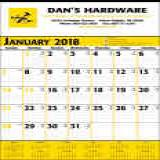 Promotional commercial calendars