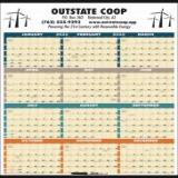 12 Month View custom promotional calendars