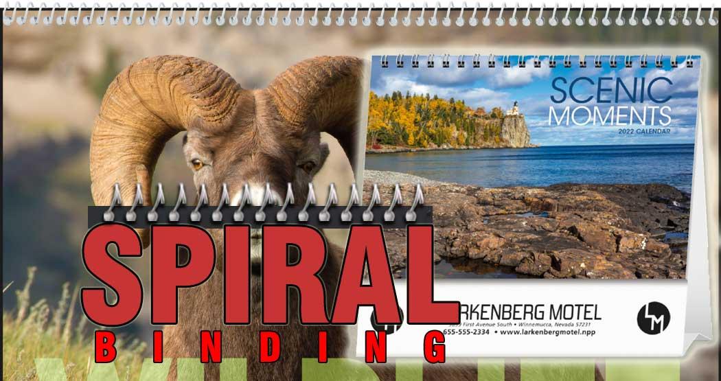 Promotional Spiral Calendars - Spiral Binding Calendar